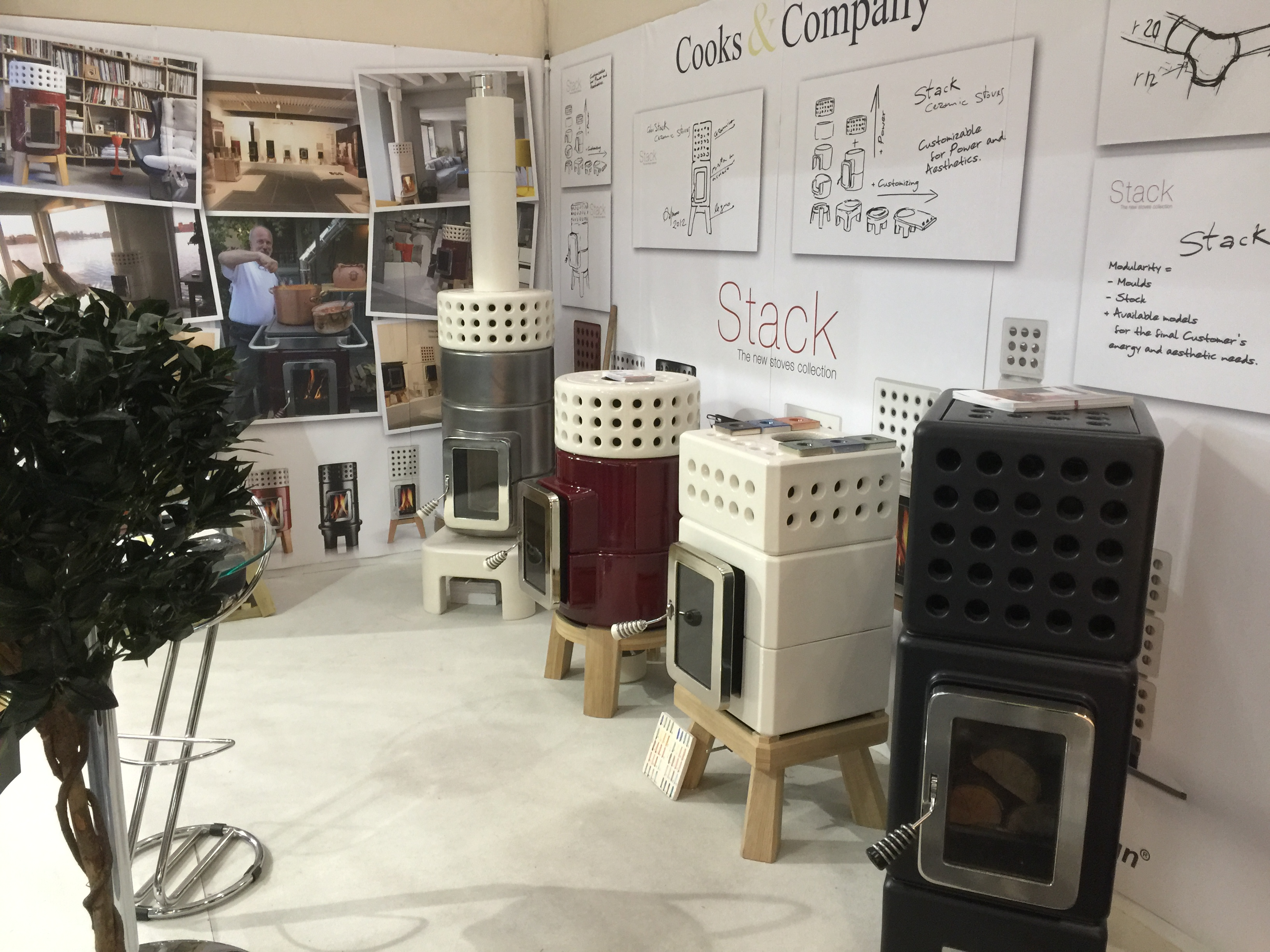La Castellamonte Stack Stoves side shot GDL16