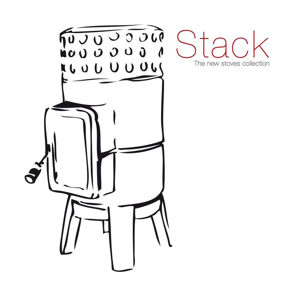 Stack Stove Line Drawing