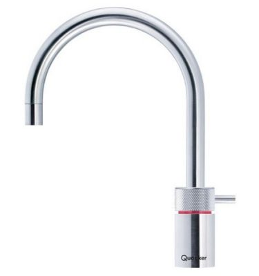 Quooker Pro3 Nordic Round Boiling Water Tap Brushed Chrome