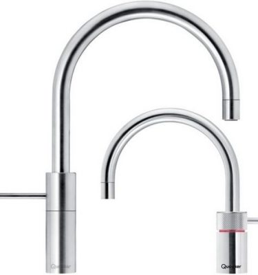Quooker 7NRCHR-TT PRO7 Nordic Twintaps Round - Polished Chrome With 7L Tank