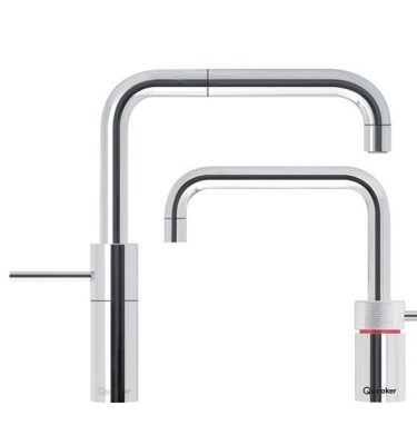 Quooker 7NSCHR-TT PRO7 Nordic Twintaps Square - Polished Chrome With 7L Tank
