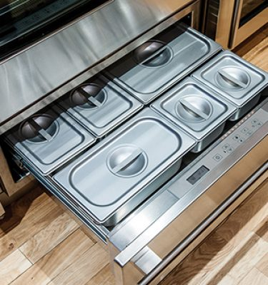 Wolf 808529 6 Piece Stainless Steel Container Set For Warming Drawer