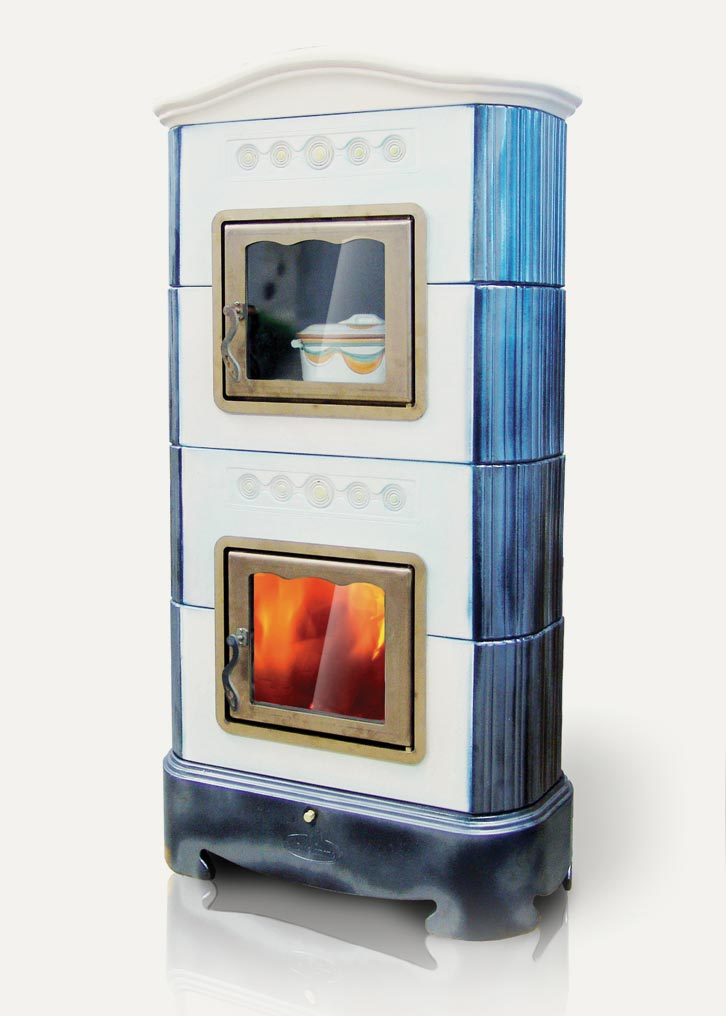 Ellisse La Castellamonte Ceramic Wood Burning Stove