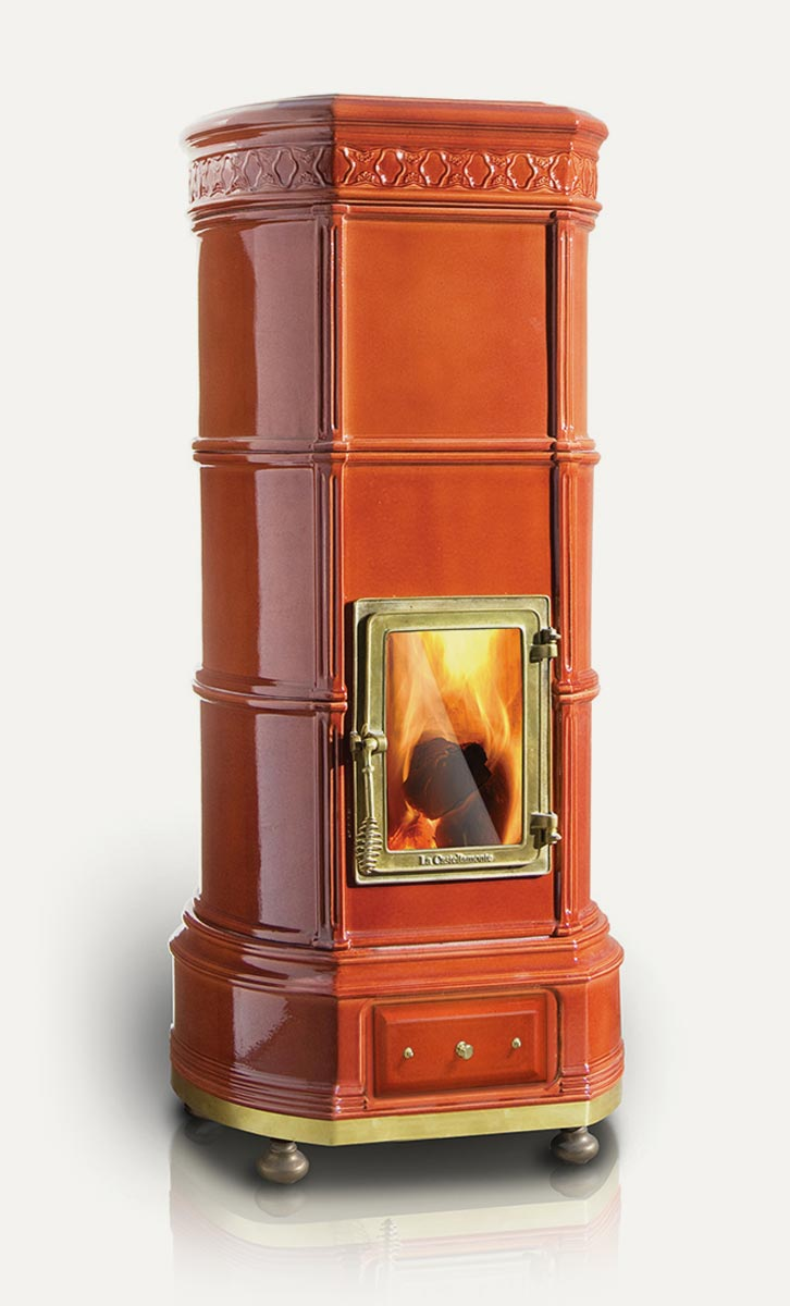 Grand'Ovale La Castellamonte Ceramic Wood Burning Stove ...