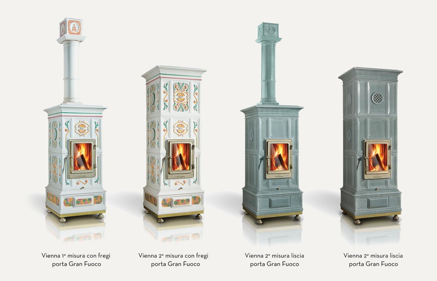 Vienna La Castellamonte Ceramic Wood Burning Stove Cooks