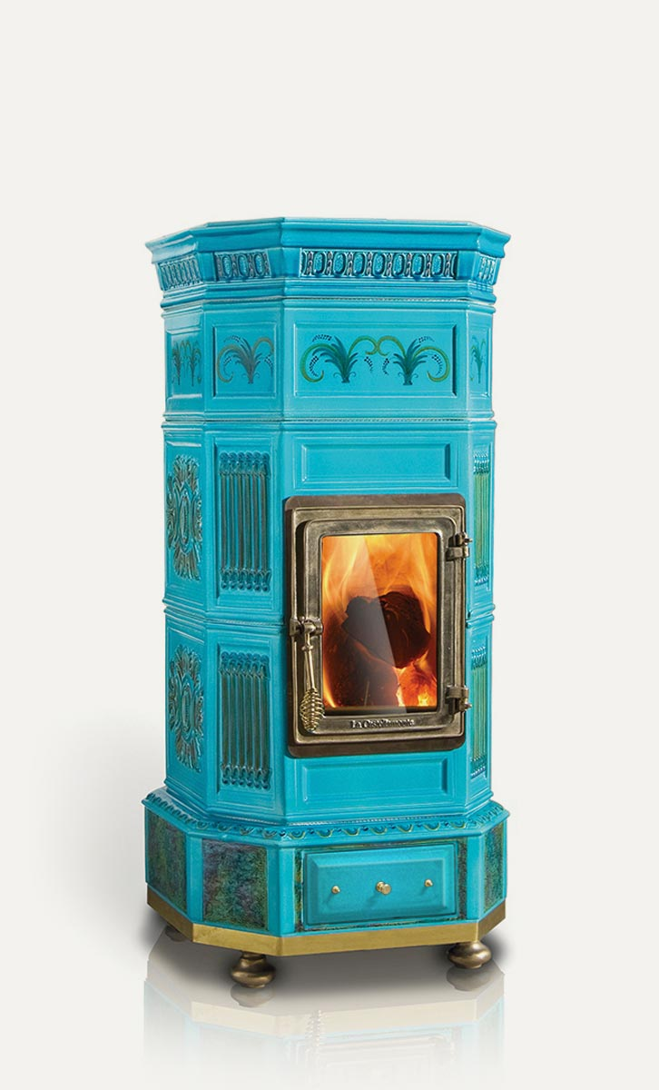 Ottagona La Castellamonte Ceramic Wood Burning Stove