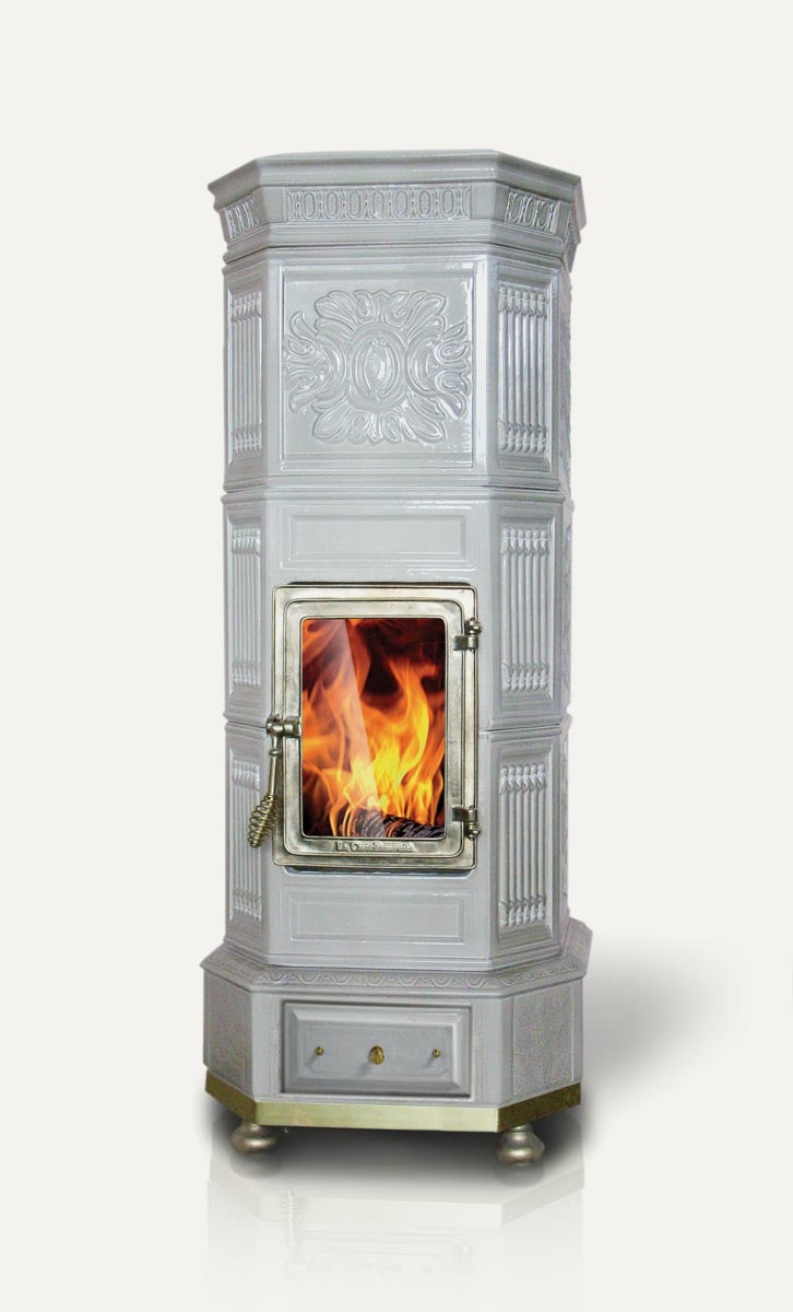 Ottagona La Castellamonte Ceramic Wood Burning Stove