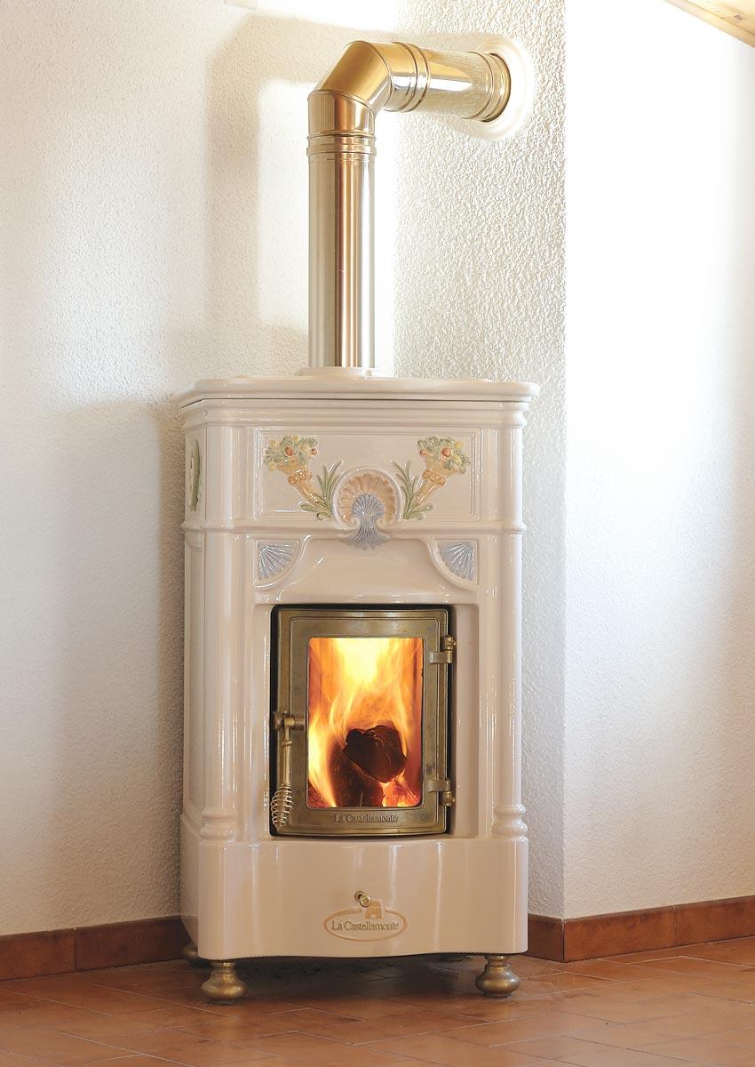 Venexiana La Castellamonte Ceramic Wood Burning Stove