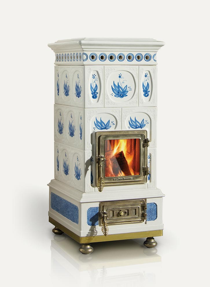 Voluta La Castellamonte Ceramic Wood Burning Stove - Cooks & Company