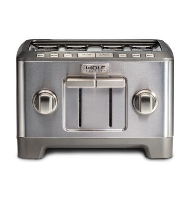 Wolf Gourmet® High-Performance 4 Slice Toaster (BRUSHED STAINLESS KNOB)