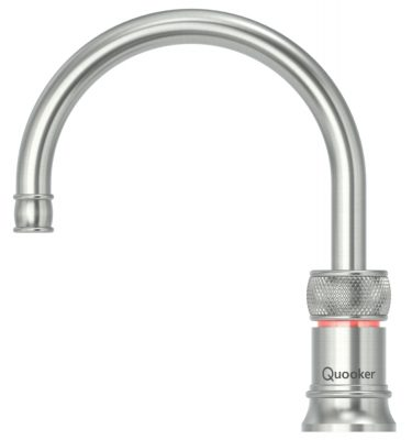 Quooker PRO3 Classic Nordic Round Single Tap - Stainless Steel With 3L Tank