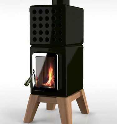 Cubistack Stove Black