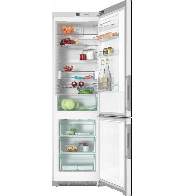Miele KFN 29233 D CLST Clean Steel Freestanding Fridge Freezer
