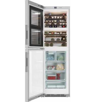 Miele KWNS 28462 E Freestanding Fridge Freezer with 2 Wine Conditioning Units