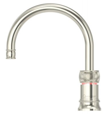 Quooker PRO3 Classic Nordic Round Single Tap - Nickel With 3L Tank