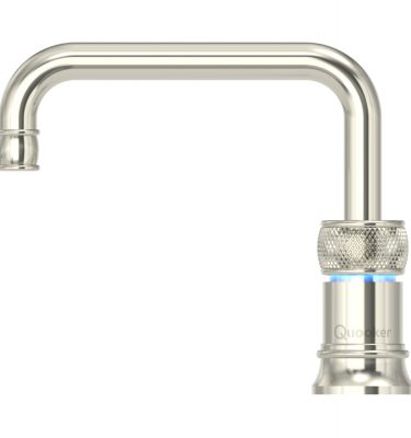 Quooker PRO3 Classic Nordic Square Single Tap - Nickel With 3L Tank