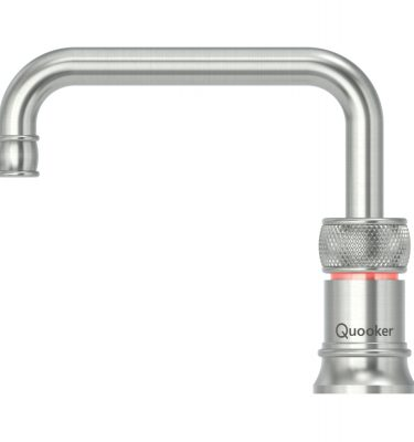 Quooker PRO3 Classic Nordic Square Single Tap - Stainless Steel With 3L Tank