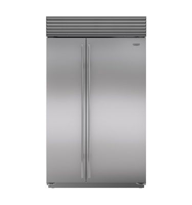 Sub-Zero ICBBI-48SID/S/TH Side-By-Side Stainless Steel Tubular Handle Refrigerator/Freezer With Internal Ice & Water Dispenser