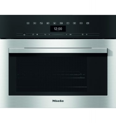 Miele DGM7340 CLST Clean Steel Compact Combination Steam Microwave Oven