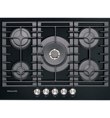 KitchenAid KHGD5 77510 75cm 5 Burner Gas-on-glass Hob