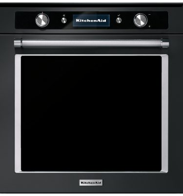 KitchenAid KOASSB 60600 Twelix Artisan 60cm Built-In Pyrolytic Single Oven with Steam Function - Black Steel