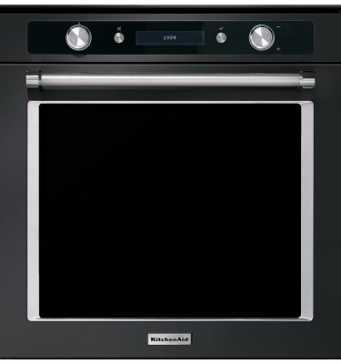 KitchenAid KOHSPB 60604 60cm Multifunction Pyrolytic Built-In Single Oven - Black Steel