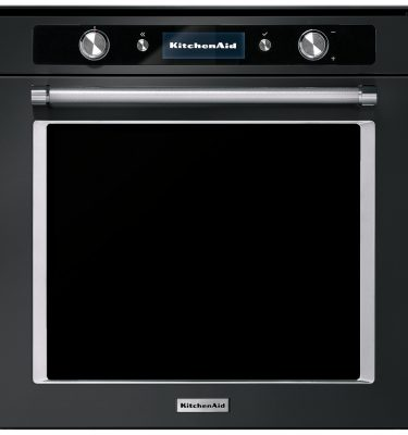 KitchenAid KOLSPB 60602 60cm Multifunction Pyrolytic Built-In Single Oven - Black Steel