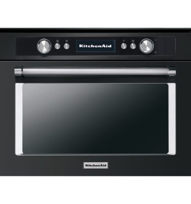 KitchenAid KOQCXB 45600 45cm Combination Steam Oven - Black Steel