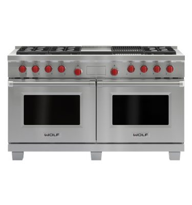 Wolf ICBDF606CG Dual Fuel Range Cooker With Charbroiler And Griddle